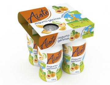AISTĖ yogurt with different fruit flavors